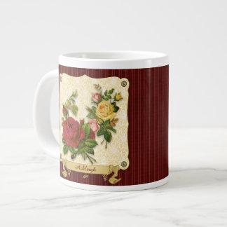 Recortes rojos elegantes del vintage del damasco d tazas jumbo