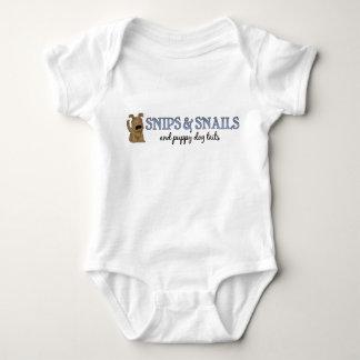 Recortes y bebé de los caracoles body para bebé
