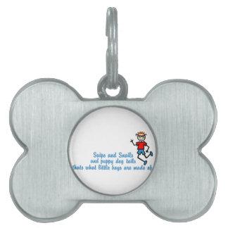 Recortes y caracoles placas mascota