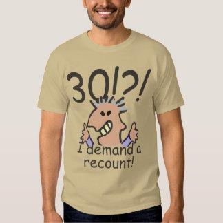 Recount 30th Birthday Tshirts
