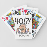 Recount 40th Birthday Bicycle Playing Cards