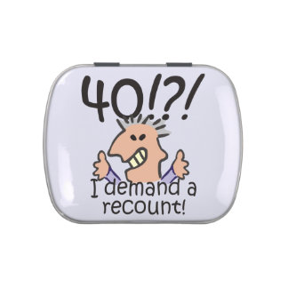 Recount 40th Birthday Candy Tin