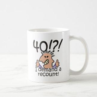 Recount 40th Birthday Classic White Coffee Mug