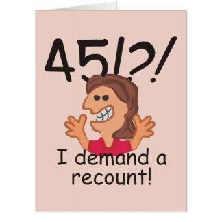 Recount 45th Birthday Card