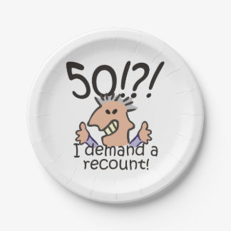 Recount 50th Birthday Paper Plate