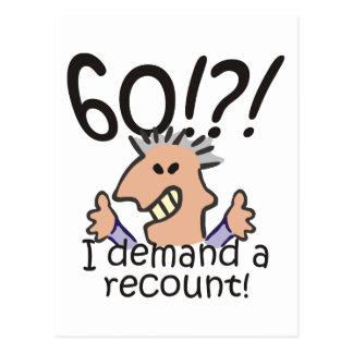 Recount 60th Birthday Post Card