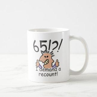 Recount 65th Birthday Coffee Mug