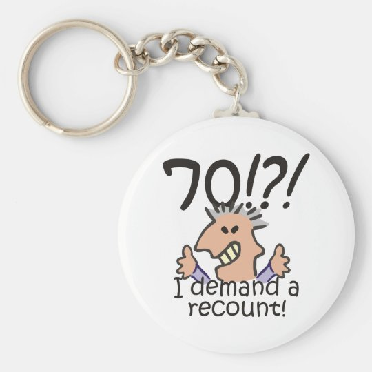 Recount 70th Birthday Keychain