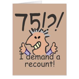 Recount 75th Birthday Card