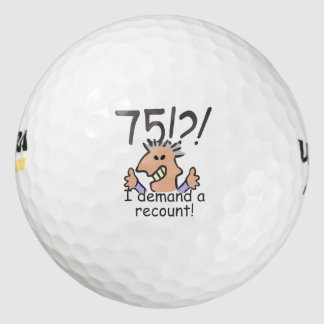 Recount 75th Birthday Golf Balls