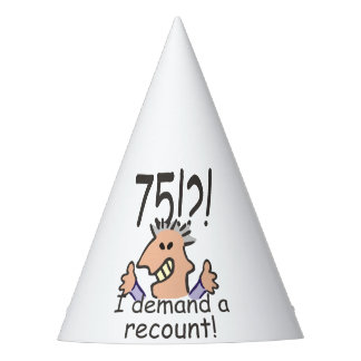 Recount 75th Birthday Party Hat