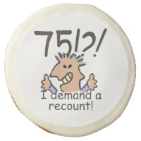 Recount 75th Birthday Sugar Cookie
