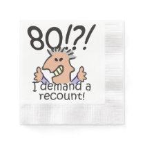 Recount 80th Birthday Napkin