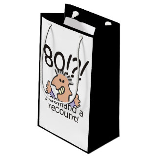 Recount 80th Birthday Small Gift Bag