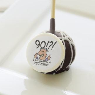 Recount 90th Birthday Cake Pops