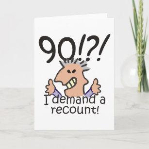 Recount 90th Birthday Card