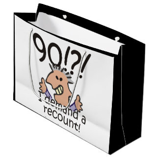 Recount 90th Birthday Large Gift Bag