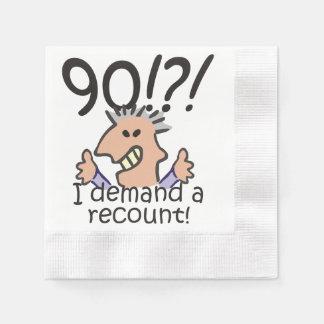 Recount 90th Birthday Napkin