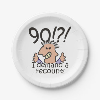 Recount 90th Birthday Paper Plate