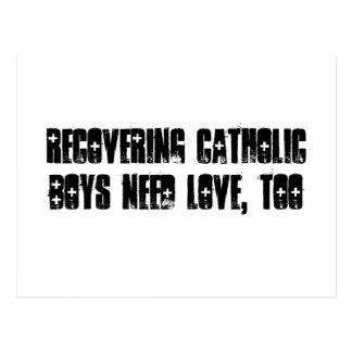Recovering Catholic Boy Postcard