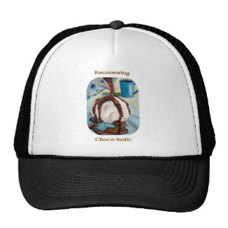 RECOVERING CHOCOHOLIC TRUCKER HATS