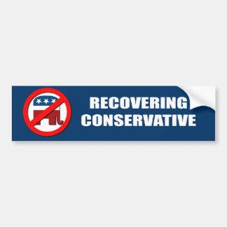 recovering conservative car bumper sticker