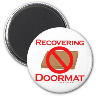 Recovering Doormat Fridge Magnet