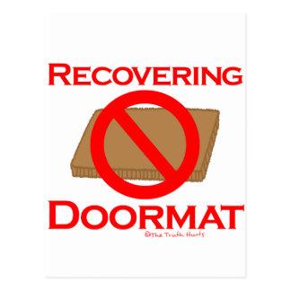 Recovering Doormat Postcard