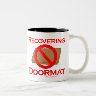 Recovering Doormat Two-Tone Coffee Mug