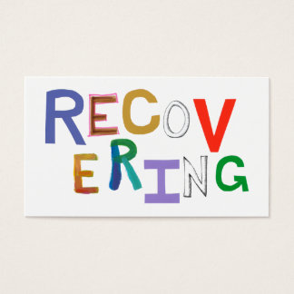 Recovering healing new beginning funky word art business card