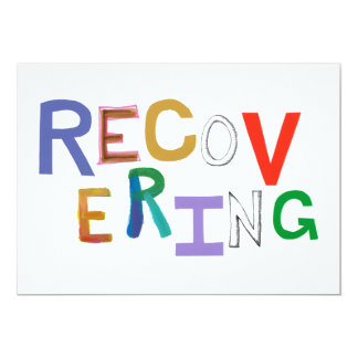 Recovering healing new beginning funky word art card