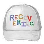 Recovering healing new beginning funky word art hat