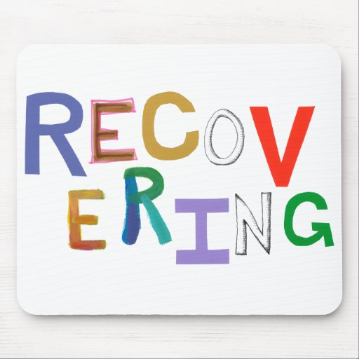 Recovering healing new beginning funky word art mouse pad