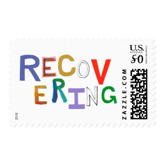 Recovering healing new beginning funky word art postage