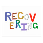 Recovering healing new beginning funky word art post cards