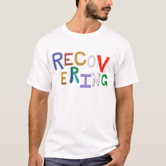 Recovering healing new beginning funky word art T-Shirt