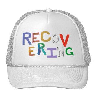 Recovering healing new beginning funky word art trucker hat