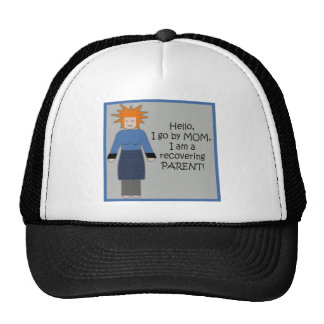 Recovering Mom Blue Mesh Hat