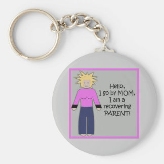 Recovering Mom Pink Keychain