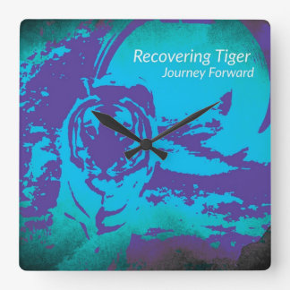 Recovering Tiger Wall Clock