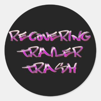 Recovering Trailer Trash Classic Round Sticker