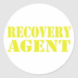 Recovery Agent Classic Round Sticker