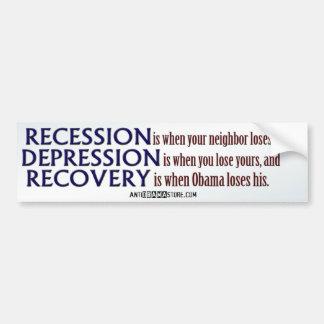 Recovery... Car Bumper Sticker