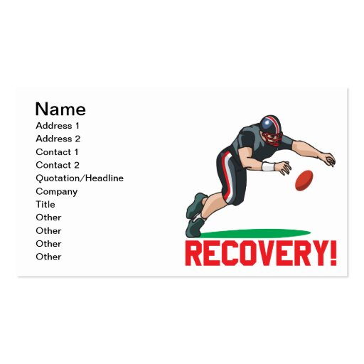 Recovery Business Card Templates