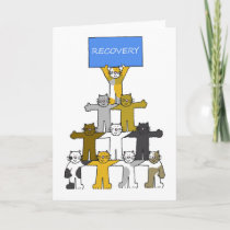 Recovery, Cats Celebrating Sobriety etc Card
