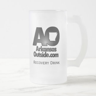 Recovery Drink Application Device 16 Oz Frosted Glass Beer Mug