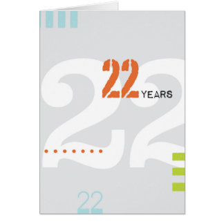 Recovery Greeting Card: 22 Years Card