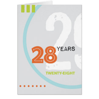 Recovery Greeting Card: 28 Years Card