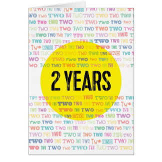 Recovery Greeting Card: 2 Years Card