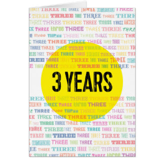 Recovery Greeting Card: 3 Years Card